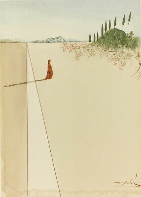 Salvador Dali Alighieri Dante. Giclee Canvas Print Poster Reproduction