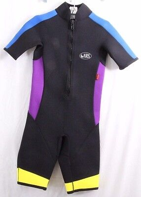 NRS #94612 Short Wetsuit Swimwear Titanium Short Sleeve Leg Zip Up Youth Kids L ()