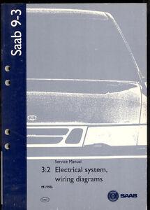 m1998 saab 9 3 electrical system wiring diagram service manual ebay