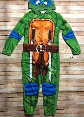 Nickelodeon Adult Pajama Suit Leonardo Ninja Turtles Green Blue Small - Green Ninja Suit