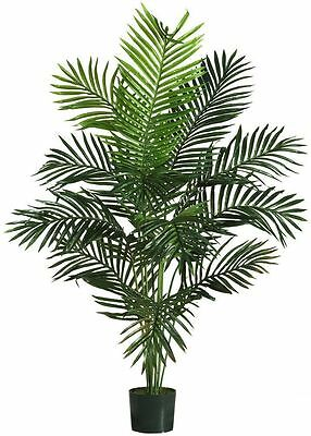 5' LARGE Artificial FAKE PALM TREE Plant Realistic Imitation Indoor/Outdoor