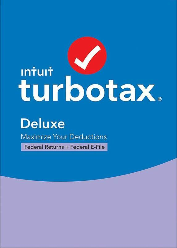 Intuit - TurboTax Deluxe Federal + E-File 2020 (1-User) - Mac, Windows