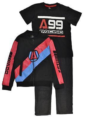 Akademiks Big Boys Plaid Shirt 3pc Short Set