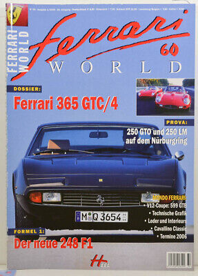Ferrari World Nr.60 - Dossier Ferrari 365 GTC/4 - F1 Der neue 248 F1  (W868)