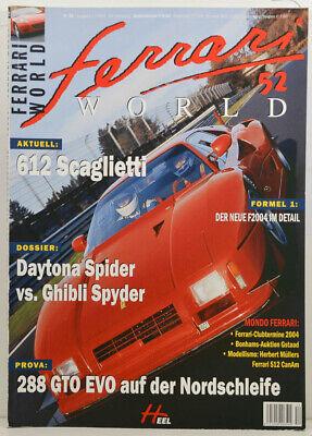 Ferrari World Nr.52 - 612 Scaglietti - F1 Der neue F2004 im Detail  (W865)
