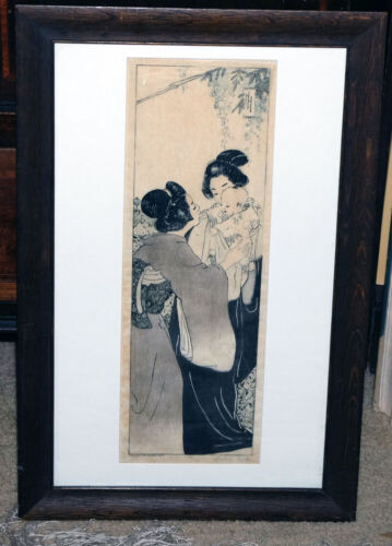 """Orig Woodblock Print: Helen Hyde: """"A Monarch of Japan"""" 1901—Signed by the Artist"""