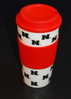 - Nebraska Cornhuskers 16 Oz Plastic Tumbler Travel Cup Hot/Cold Coffee Mug Banded