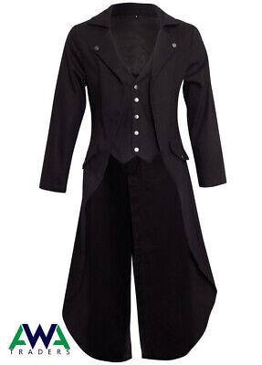 Gothic Coat Victorian Tail Coat Men's Steampunk Tailcoat Jacket Gothic Clothing (Steampunk Clothing Men)