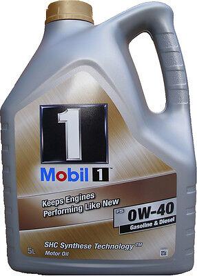 5 Liter Mobil 1 FS 0W-40 Motoröl 0W40 MERCEDES VW 502 00 505 00 PORSCHE A40 NEU