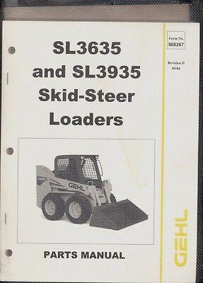 2004 Gehl Sl 3635 Sl 3935 Skid Steer Loaders Parts Manual Yanmar Operators