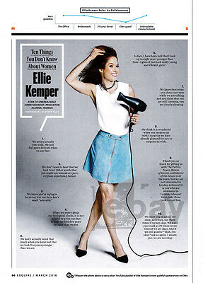 Ellie Kemper 1 Pg Clipping 2016 10 Things You Dont Know About Women