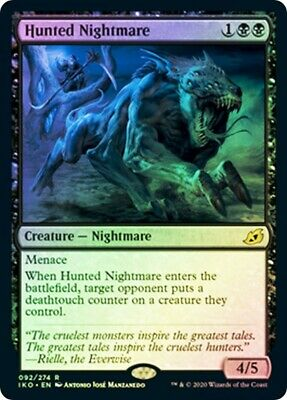 ***4x FOIL Hunted Nightmare*** MTG Ikoria IKO MINT Kid Icarus