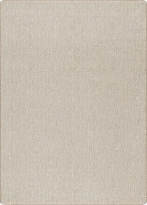 Milliken Beige Contemporary Single Colored Cream Area Rug Solid Woven Edge Flax Cream Color Area Rugs