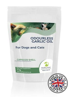 Knoblauchöl Geruchlos 2mg für Hunde Katzen Haustiere 60 Capsules Pillen - 2 Mg Pillen