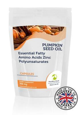 Calabaza Semillas Aceite 300mg 500 Cápsulas Pastillas Suplementos