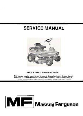 Massey Ferguson Mf8 Lawn Garden Tractor Service Manual