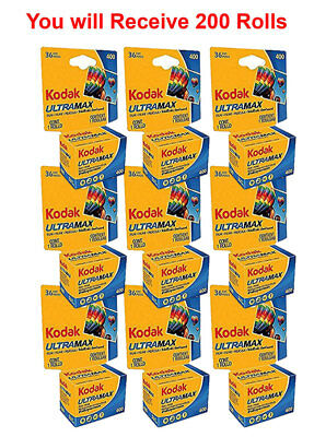 200 Rolls- Kodak Ultramax 400 GC 135-36 35mm Film Color Print Carded Fresh 2020 for sale  Shipping to India