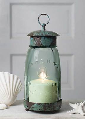 LOW SALE PRICE Quart Vintage Style Mason Jar Lantern -Distressed Weatherd Finish