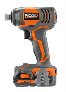 RIDGID  IMPACT DRILL / 2 BATTERIES/ CHARGER/RADIO London Ontario image 1