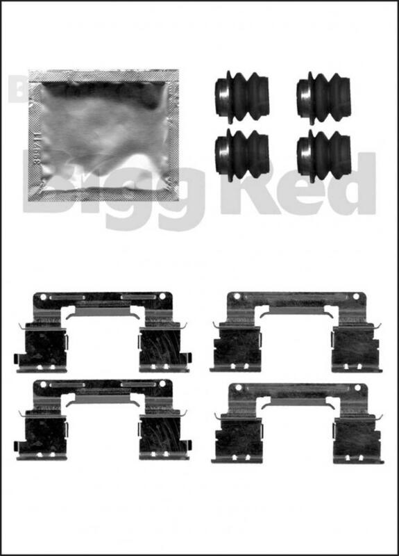 Front Brake Caliper Pad Fitting Kit for Lexus GS300, GS430 & Toyota Camry H1838