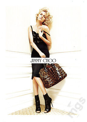 Amber Valletta 4 Page Clipping 2010 Ad For Jimmy Choo   Lingerie  High Heels
