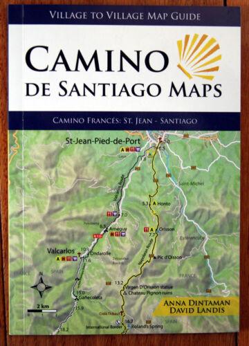 CAMINO DE SANTIAGO MAPS Village Map Guide Dintaman/Landis 2019 1st Edition SPAIN