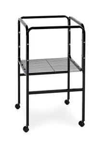 NEW  Prevue Pet Products Bird Cage Stand with Shelf, Black Condition: New