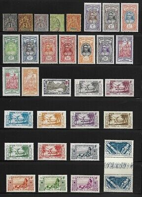 Collection of Old Stamps - French Polynesia . . . . . . (3 pages)