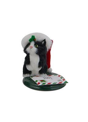 Byers Choice Black & White Kitten Cat Soft & Furry w/Postcard17 Design #3 of 3