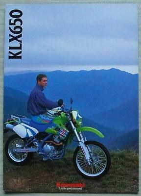 KAWASAKI KLX650-C MOTORCYCLE Sales Brochure c1993 #P/N 99948 1216 ALL-E III-XII