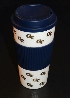 Georgia Tech Yellow Jackets 16Oz Plastic Tumbler Travel Cup Hot/Cold Coffee Mug