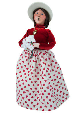 Byers' Choice Carolers Woman With White Roses 2131B New 2018