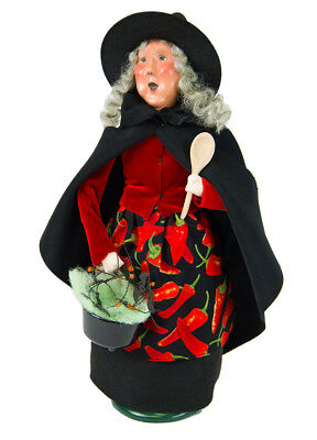 Byers Choice Halloween Cauldron Witch With Spoon 7183 New