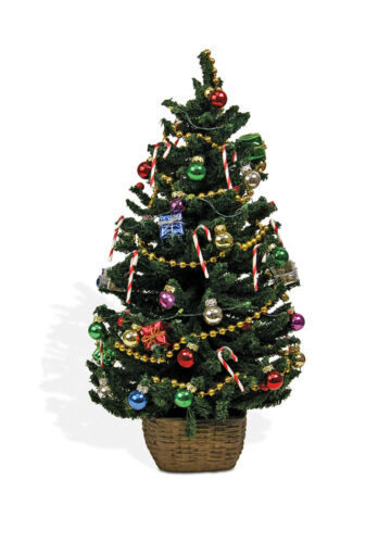 Byers Choice Authentic Accessory Lighted Decorated Christmas Tree Battery Operat