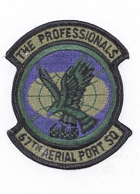 USAF Air Force Patch: 67th Aerial Port Squadron - subdued