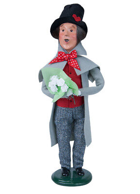 Byers' Choice Carolers Man With White Roses 2133B New 2018 Caroler
