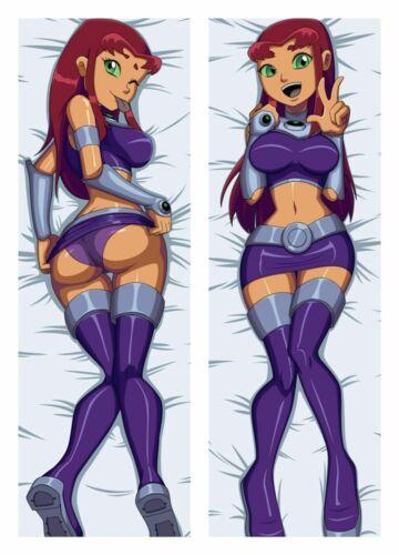 NEW Teen Titans Starfire Dakimakura Body Hug Pillowcase Cover Sexy 150x50CM
