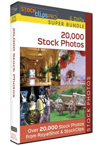 20,000 Stock Photos - 6 DVD Super Bundle 6 DVDs by StockClip Pro $1600 Value!
