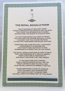 Royal Signals Poem British Army Corps Regiment RS