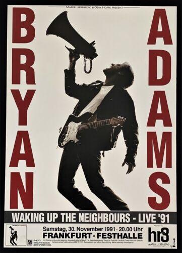Bryan Adams POSTER Waking Up The Neighbors Live Tour 1991 Germany Original!