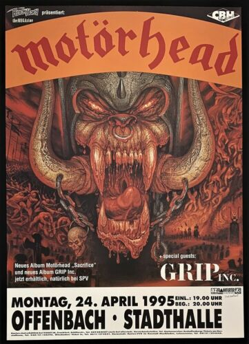 Motorhead Concert POSTER Grip Inc. Sacrifice Tour