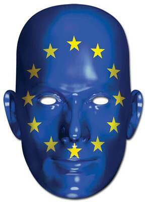Europa Flagge - Promi Maske hochwertiger Glanzkarton mit - Promi Maske
