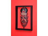 Tribal wall decor, wooden tribal mask