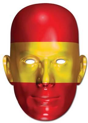 Spanien Flagge - Promi Maske hochwertiger Glanzkarton mit - Promi Maske