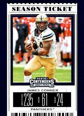 2019 Contenders Draft - JAMES CONNER #44 season ticket - Pitt Panthers 🏈