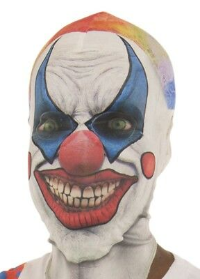 Faux Real Adult Clown Halloween Mask Costume Joker Scary Kiss Red Mouth - Clown Mouth Halloween