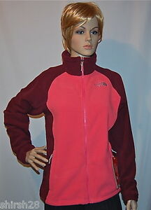 NWT THE NORTH FACE KHUMBU PINK PEARL FLEECE JACKET COAT LARGE L WOMENS FAST SHIP