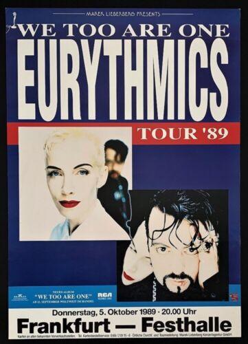 Eurythmics POSTER We Too Are One Tour 1989 Festhalle Frankfurt Germany Original!