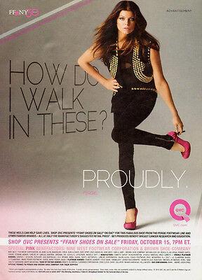 2011 magazine Adverisement, FFANY 30, Shoes, QVC, Fergie -091713