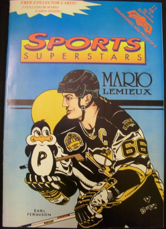 SPORTS SUPERSTARS 11 REVOLUTIONARY COMIC MARIO LEMIEUX HOCKEY W/CARDS 1993 FN/VF